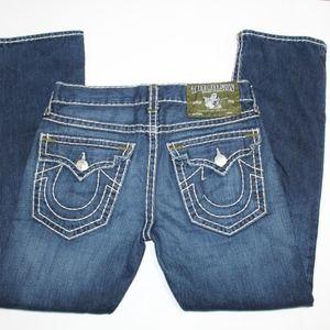 True Religion Jeans Ricky Super T Green bartacks